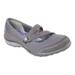 Women's Skechers Relaxed Fit Breathe Easy Love Story Mary Jane Charcoal