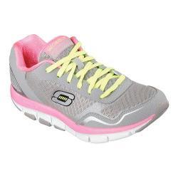 Women's Skechers Shape-ups 2.0 Liv High Line Sneaker Gray/Hot Pink
