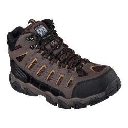 Skechers Men's Boots Work Blais Bixford Steel Toe Dark Brown