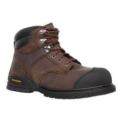 Skechers Men's Boots Work Relaxed Fit Kener Steel Toe Dark Brown