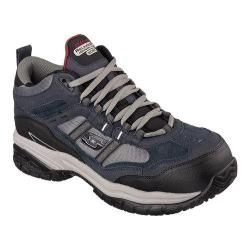Men's Skechers Work Relaxed Fit Soft Stride Canopy Comp Toe Navy/Gray