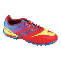 Men's Diadora DD-NA 3 R TF Soccer Cleat Brilliant Blue/Fiery Red