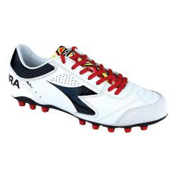 Men's Diadora Italica 3 LT MD PU 25 Soccer Cleat White/Black
