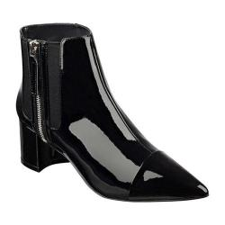 Women's Nine West Wasabi Pointed Toe Bootie Black/Black Synthetic