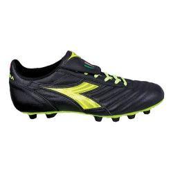Men's Diadora Brasil S.P.A. Soccer Cleat Black/Matchwinner Yellow