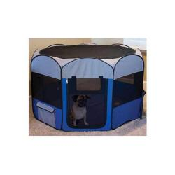 Pop-up Large Folding Pet Playpen with Washable Floor Mat and Water Holder
