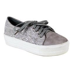 Women's Reneeze Ola-1 Glitter Platform Sneaker Grey Synthetic
