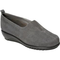 Women's Aerosoles Friendship Flat Dark Gray Suede