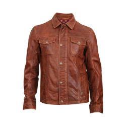 Men's Durango Boot Cow Puncher Jacket Brown Leather
