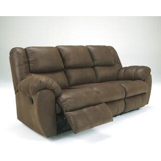 Signature Design by Ashley Quarterback Canyon Reclining Sofa