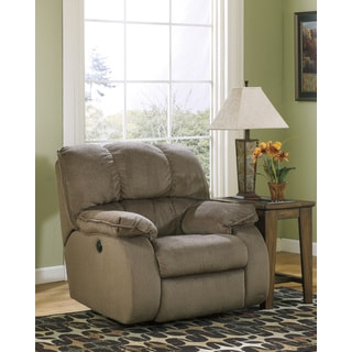 Signature Design by Ashley Ledgestone Mocha Power Rocker Recliner