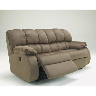 Signature Design by Ashley Ledgestone Mocha Two Seat Reclining Power Sofa