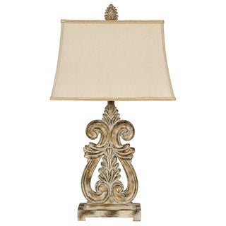 Signature Designs by Ashley Shenna Whitewashed Goldtone Table Lamps (Pack of 2)
