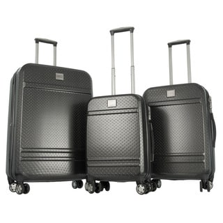 Gabbiano Dark Grey Polycarbonate 3-piece Expandable Hardside Spinner Luggage Set