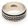 Kele & Co. Sterling Silver Braided Spinner Ring