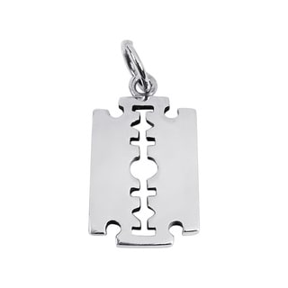 Edgy Razor Blade .925 Sterling Silver Pendant (Thailand)