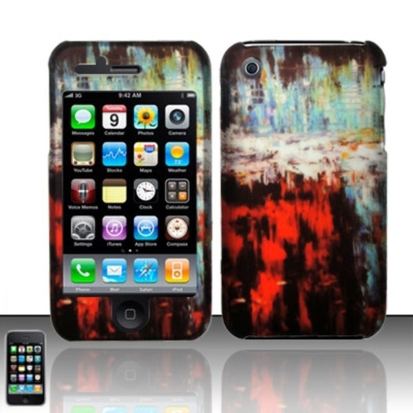 INSTEN Rubberized Pattern Design Hard Plastic Phone Case Cover for Apple iPhone 3G/ 3GS