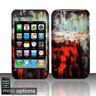 BasAcc Rubberized Pattern Design Hard Case Cover for Apple iPhone 3G/ 3GS