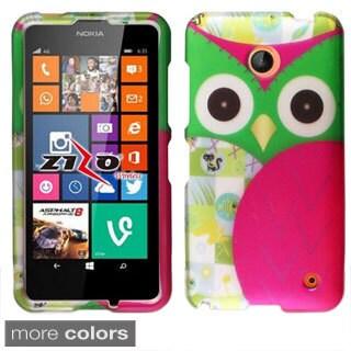 BasAcc Owl Colorful Cute Cartoons Rubberized Hard Case for Nokia Lumia 635