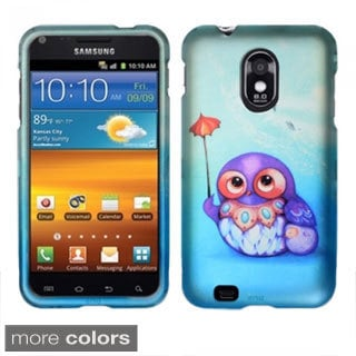 INSTEN Owl Cute Cartoons Rubberized Hard Plastic Phone Case Cover for Samsung Epic 4G Touch D710