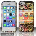 BasAcc Owl Colorful Cute Cartoons Rubberized Hard Case for Apple iPhone 5C