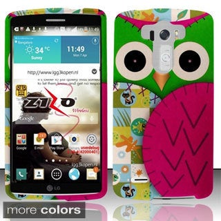BasAcc Owl Colorful Cute Cartoons Animal Rubberized Hard Case for LG G3