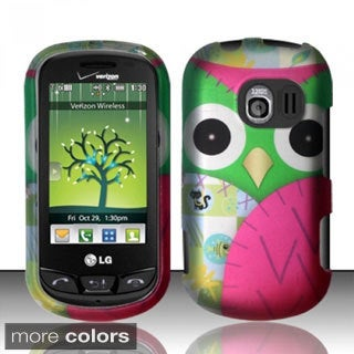 INSTEN Owl Colorful Cute Cartoons Rubberized Hard Plastic Phone Case Cover for LG Extravert VN271
