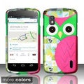 BasAcc Owl Cute Cartoons Rubberized Hard Case for LG Nexus 4 E960 (T-Mobile)