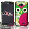 BasAcc Owl Cute Rubberized Hard Case for LG Optimus L70/ Exceed II/ Dual D325