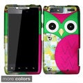 BasAcc Owl Cartoon Rubberized Hard Case for Motorola Droid Razr MAXX XT913/XT916