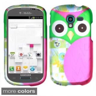 BasAcc Owl Cute Cartoons Rubberized Hard Case for Samsung Galaxy Exhibit T599