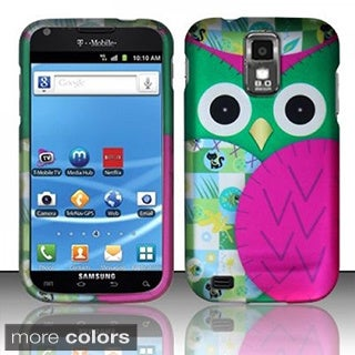 BasAcc Owl Cute Cartoons Rubberized Hard Case for Samsung Galaxy S2 T989