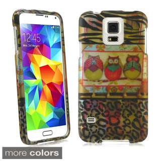 BasAcc Owl Colorful Cute Cartoons Rubberized Hard Case for Samsung Galaxy S5