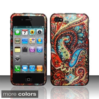 BasAcc Rubberized Pattern Design Hard Case Cover for Apple iPhone 4/ 4S