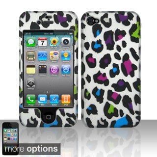 BasAcc Leopard Colorful Rubberized Hard Case Cover for Apple iPhone 4/ 4S