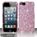 BasAcc 3D Diamond Beads Shinny Leopard Hard Case Cover for Apple iPhone 5/ 5S