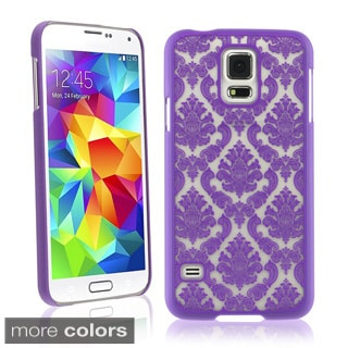 BasAcc Lace Romantic Elegant Cute Rubberized Hard Case for Samsung Galaxy S5/ SV