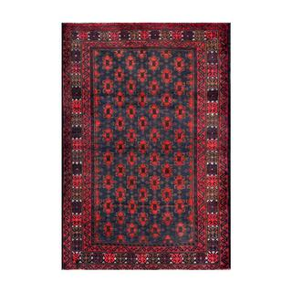 Herat Oriental Afghan Hand-knotted Tribal Balouchi Navy/ Red Wool Rug (2'9 x 4')