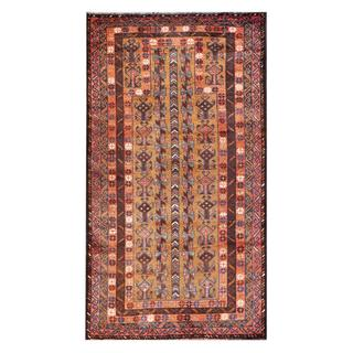 Herat Oriental Afghan Hand-knotted Tribal Balouchi Tan/ Brown Wool Rug (2'9 x 5')