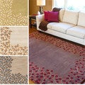 Hand-tufted Rome Floral Border Wool Area Rug (12' x 15')