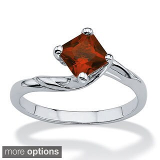 PalmBeach Princess-cut Simulated Birthstone Ring Color Fun