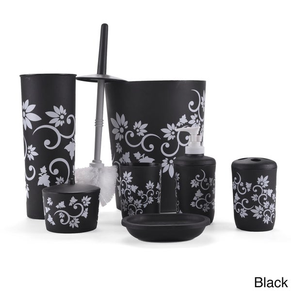 Floral 7 Piece Bath Accessory Set 16374323 Shopping