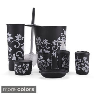Floral 7-piece Bath Accessory Set