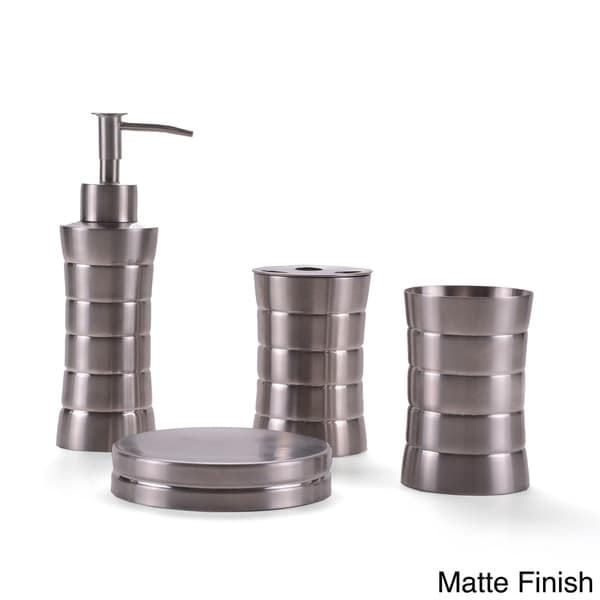 Stainless Steel Bath Accessory 4 Piece Set 16374325