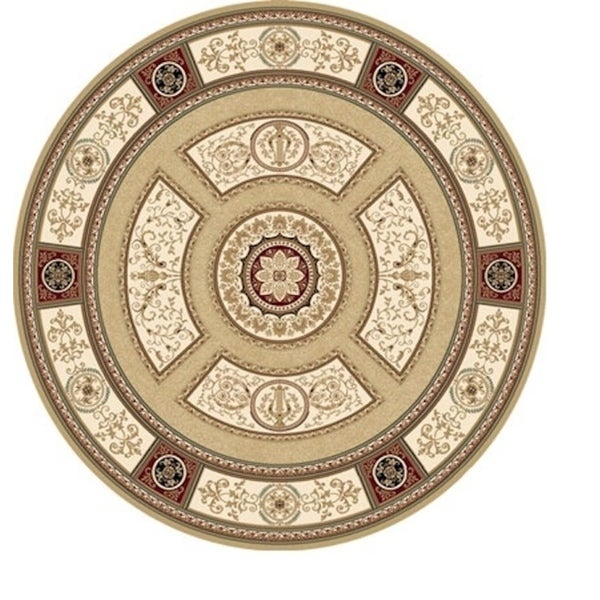 Sonorous Traditional Gold Area Rug (7'10 Round)