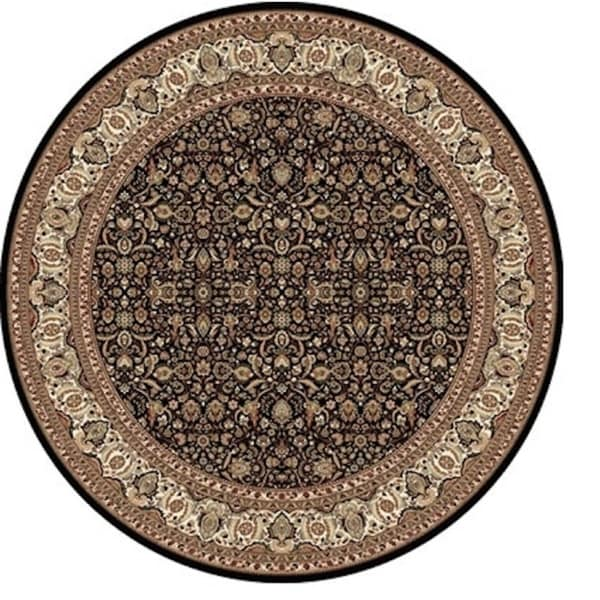 Sonorous Traditional Black Area Rug (5'2 Round)