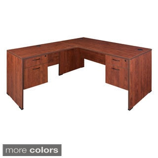 Regency 60-inch Sandia Double Pedestal L-desk