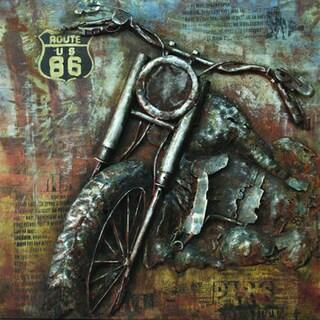 Yosemite Home Decor 'Rider IV' Metal Art