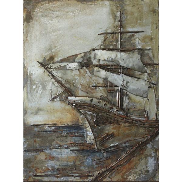 Castaway Ship Metal Art