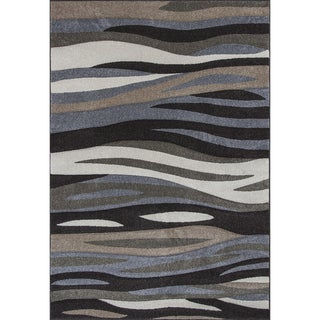 Georgian Waves Charcoal Area Rug (5'3 x7'7)